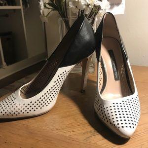 French Connection Classic Stiletto Black White